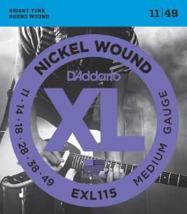D'addario EXL115 medium 11-49